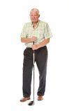 Happy casual mature golfer Royalty Free Stock Photography