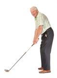 Happy casual mature golfer Stock Photo