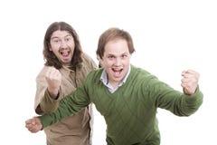 Happy casual men posing Stock Photography