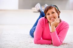 Happy casual woman Royalty Free Stock Photo