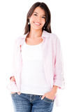 Happy casual woman Royalty Free Stock Image