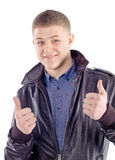 Happy casual young man Stock Photography