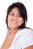Happy and casually dressed large  latin woman Royalty Free Stock Photos