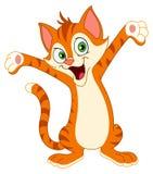 Happy cat. Raising his hands Royalty Free Stock Image