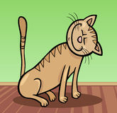 Happy cat cartoon illustration Stock Image