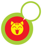 Happy cat face icon Royalty Free Stock Image