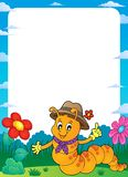 Happy caterpillar theme frame 1. Eps10 vector illustration Stock Images
