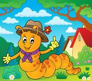 Happy caterpillar theme image 2. Eps10 vector illustration Royalty Free Stock Images