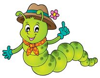 Happy caterpillar theme image 1. Eps10 vector illustration Stock Images