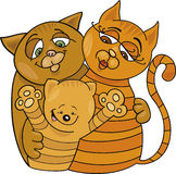 Happy cats family Stock Image