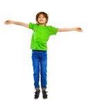 Boy jumping Royalty Free Stock Images