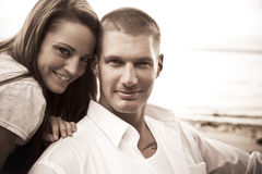 Happy caucasian couple Royalty Free Stock Photos