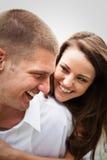 Happy caucasian couple Stock Photos