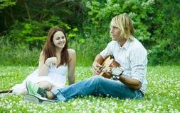 Happy caucasian couple Royalty Free Stock Photography