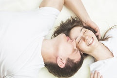 Happy Caucasian Couple Together Royalty Free Stock Image