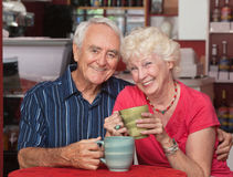 Happy Caucasian Elderly Couple Royalty Free Stock Photos