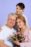 Happy Caucasian elderly female Royalty Free Stock Images