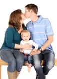 Happy caucasian family Royalty Free Stock Photography