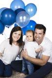 Happy caucasian family Stock Photography