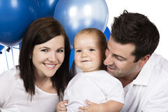 Happy caucasian family Stock Photos