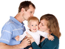Happy caucasian family Stock Images