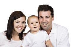 Happy caucasian family Stock Image