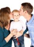 Happy caucasian family Royalty Free Stock Photo