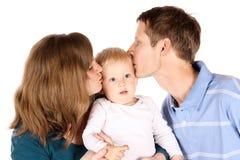 Happy caucasian family Royalty Free Stock Photos