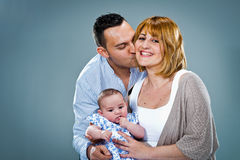 Happy Caucasian Family royalty free stock images