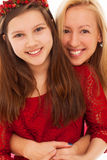 Happy caucasian sisters at home Stock Photography