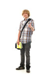 A happy Caucasian teenager holding thumbs up Stock Photography