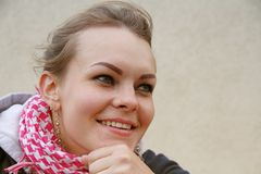 Happy caucasian woman Stock Photo
