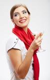 Happy celebrate woman portrait Stock Photo