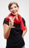 Happy celebrate woman portrait Stock Images