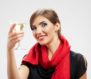 Happy celebrate woman portrait Royalty Free Stock Photography