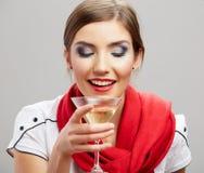 Happy celebrate woman portrait Royalty Free Stock Photos