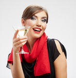 Happy celebrate woman portrait Royalty Free Stock Images