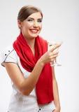 Happy celebrate woman portrait Stock Image