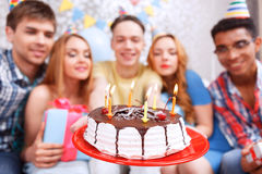 Happy celebration of a birthday Stock Photography