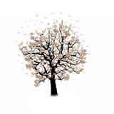 Happy celebration, funny tree with holiday symbols Stock Images