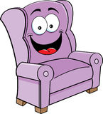Happy chair. Cartoon illustration of a smiling chair Stock Photos