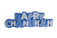 Happy Chanukah. A Chanukah sign against a white background stock images