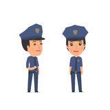 Happy Character Constabulary standing in relaxed pose Royalty Free Stock Photo