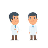 Happy Character Doctor standing in relaxed pose Royalty Free Stock Photos