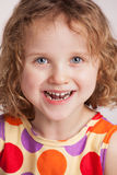 Happy charming curly little girl Royalty Free Stock Photography