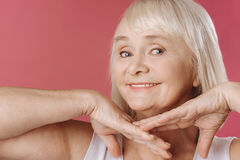 Happy charming woman looking at you Royalty Free Stock Images