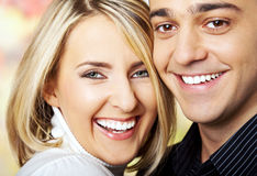 Happy cheek by cheek Royalty Free Stock Images