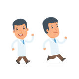 Happy and Cheerful Character Doctor goes and runs Royalty Free Stock Photography