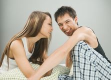 Happy cheerful couple Royalty Free Stock Image