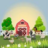 Happy and cheerful farm animals Royalty Free Stock Photos